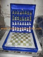 CUSTOM DESIGN PAKISTANI ONYX/ONYX CHESS BOARDS WITH FIGURES