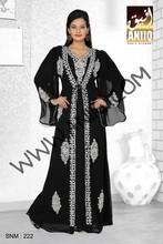 Extraordinary Black Faux Georgette Designer Dubai Kaftan