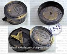 Nautical Gift & Decor Item, Antique Brass Compass, Gift Nautical Sundial Compass