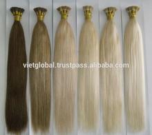 Fashionable u tip / Nail Hair extension 100% cambodian human Hair