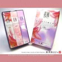 Nippon Kodo, Ka-fuh Series, Assortment (Lavender, White Plum, Daphne), Less Smoke Type, Small Bulk Pack