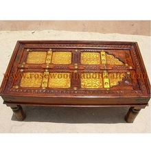 Wooden Door Shape Coffee Tables , Wooden Carved Door Shape Coffee Table , Rosewood Door Style Coffee Table