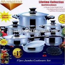 17 Piece Monalisa Cookware Set