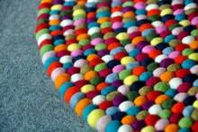 150 cm felt ball rug-100%woolen felt ball rug from Nepal, Attractive rugs, felt ball rugs wholesale in Nepal