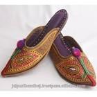 Indian Women Multi Colour Mojari Shoes Jutti From India