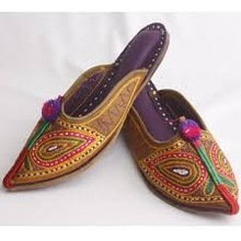 Indian Women Multi Colour Mojari Shoes Jutti From India