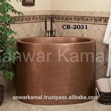 Raksha Copper Japanese Soaking Bath Tub