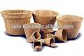 Eco- amicalequalité ayurvedhic flowerpots de fibres végétales, biodégradables pots en fibre de coco
