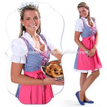 Women Custom Cotton Polyester Trachten Mini Dirndl Octoberfest Dirndl Austria (Traditional Garments)
