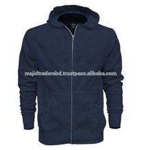 high quality and fashionable zipper up fleece jacket with hood
