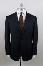 Custom Made to Measure Italian Style Men's Navy 120'S Super Wool 2 Piece Suits
