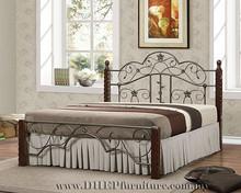 Wooden Queen Bed, Bedroom Furniture, Classical duoble bed