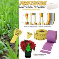 Fortatag PVC Custom Shaped plant labels / stick labels / pot labels