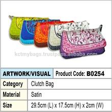 Satin Ladies Clutch Bag
