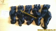 Factories hot products virgin hair extension in vietnamese weaving wavy hair