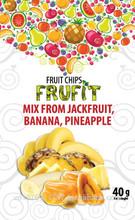 Fruit chips FruFit Mix (banana, pineapple, jack fruit)