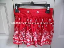 Girls Oshkosh Size 5 Bandana Print Red Skirt shorts/Paisley bandana vintage sorts/REAL CONTENTS short/hip hop Paisley bandana