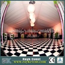 white dance floor wedding dance floor fast setup