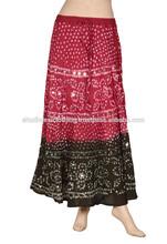 Handmade Tye Dye Cotton Long Bandhej Skirts