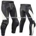 Marca nuevo estilo genuino cuero de la motocicleta moto pantalones pantalones blindados rojo/azultamaño, moto pantalones de cuero