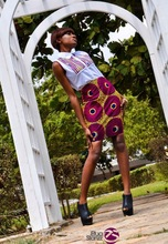 african print shirt and skirt