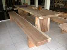 Antique Huge Dining Table with original Solid Wood for the top table