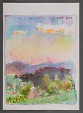 """Watercolor painting """"The Carpathians"""""""
