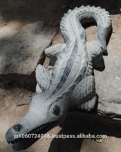 crocodile étang de jardin statue