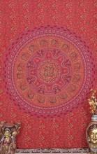 Floral Hand Block Tapestry Mandala Pattern Hippie Gypsy tapestries