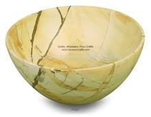 Burma Teak Marble Bowl