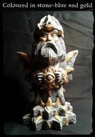 Slavic God Svarog sculpture with gold or silver color