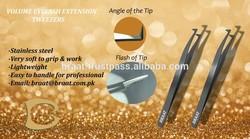 L type tweezers for holding even 0.03mm lash volume eyelash extension tweezers