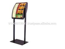 ultrathin high brightness advertising display led menu light box restaurant sign