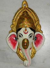 Exclusive Indian Metal Painting Metal Painting Gaensh Masks Home Acessories Gift Item