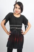 SHTD05 cotton jersey tie dye short dress price 380rs $4.00