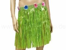 Raffia bast hawaii hula skirt green