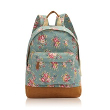 2014 New Fashion and Stylish Flowers Print Rucksack-Backpack Bag Medium Size
