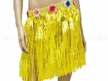 Raffia bast hawaii hula skirt yellow