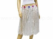 Long raffia bast hawaii hula skirt white