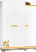 My Little Bear 3 Doors Wardrobe with Soft Close Fittings