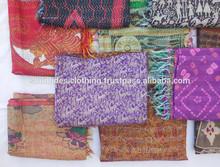 2014 latest 100% silk pretty printed kantha stole / 2014 popular and fashion design scarf stole