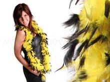 Feather Boa yellow/black