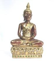 Teak Wood Sitting Buddha Statue