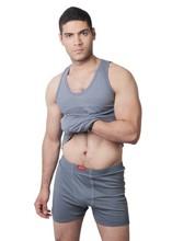 100% Egyptian combed cotton Boxer short & crew neck undershirt set