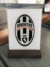 Juventus, Ferrari, Fiat 500, Inter, Milan, Catania club logo vetro, gagliardetto, targa.