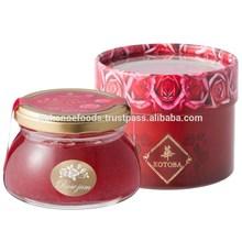 Crashed rose jam made from JAS certified organic roses