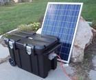 Portable 5000 Watt Solar Generator 200ah Battery (2)100 Watt Solar Panels