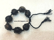 Blue Jade Netted Tumble Healing Power Bracelet
