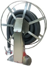 Stainless steel hose reel for 1 to 4 inch hose