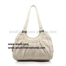 Womens White Leather Handbag
